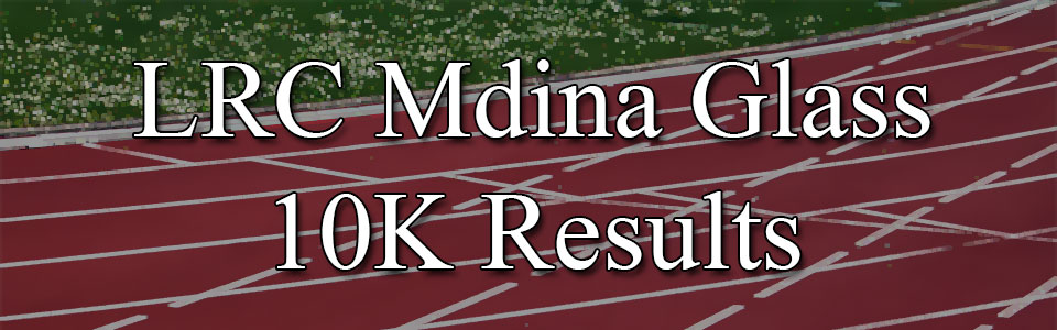 2016 Mdina Glass Results Ladies Running Club 10K